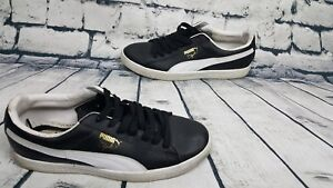 buy popular 04c46 2df4f Details about Men's Puma Clyde Leather FS Classic Black White Sneaker  (Size:10.5)