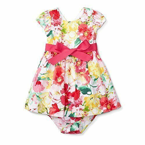 NWT Polo Ralph Lauren Baby Girls/' Polo//Floral// Madras 2-Piece Dress Bloomer Set