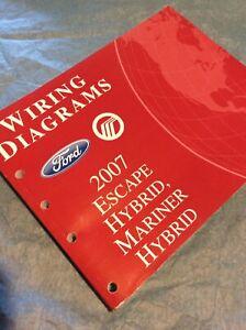 2007 Ford Escape Mercury Mariner Hybrid Electrical Wiring ...