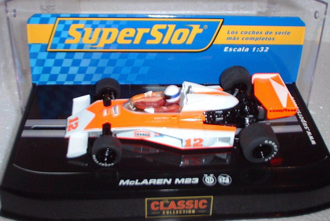qq H2927 SUPERSLOT MC LAREN M23 M23 M23 1976  12 J. MASS - Scalextric RU - H 2927 e342d1