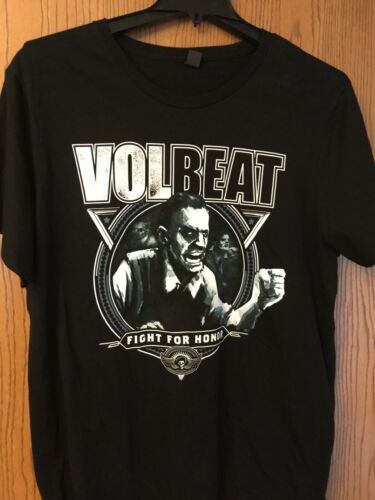 """Volbeat. """"Fight For Honor"""".  Black Shirt.   2XL"""