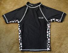 RON JON SURF SHOP Jobbeeda black w/ white skulls size M short sleeve shirt USA