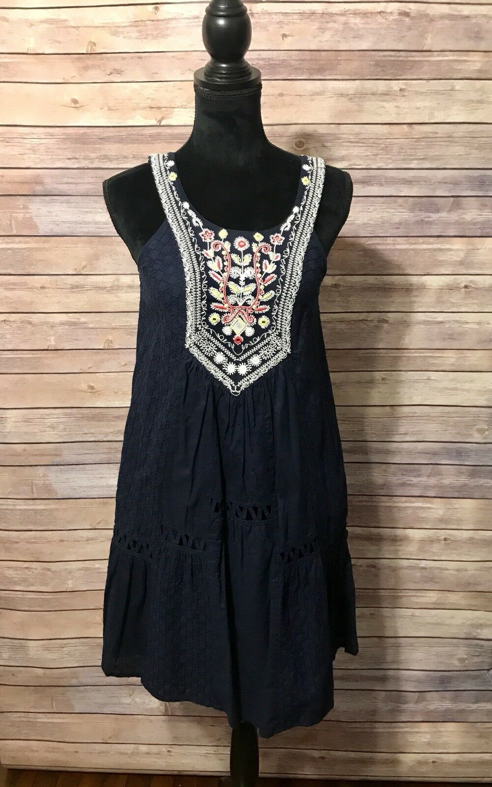 7b5fdc22a76028 Anthropologie Maeve Embroided Dress....SZ 0 Blau nohmhv3231-Kleider ...