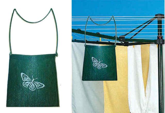 Original Shade Cloth Peg Bag. Laundry Peg Basket. Clothesline bag clothes pegs