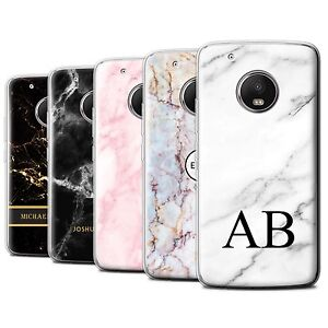 new concept bd241 3e023 Details about Personalised Custom Marble Case for Motorola Moto G5  Plus/Initial Gel/TPU Cover