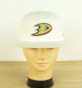 d76199983651b Anaheim Ducks Reebok NHL Structured Center Ice FlexFit White Hat Cap ...