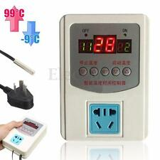 -9~99°C Digital LED Thermostat Temperature Controller w/ Magnetic Probe 220V