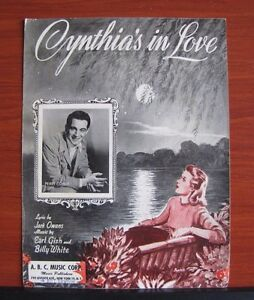 Cynthia-039-s-in-Love-1942-sheet-music-Perry-Como-Vocal-Piano-Guitar-chords