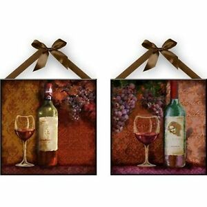 quot wine quot wall plaques kitchen wall decoration set of 2 new