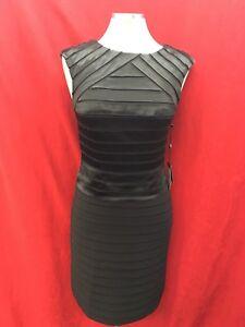 étiquette 40 taille ' Papell Longueur Dress détail avec Adrianna 10 Black wvY7wxq