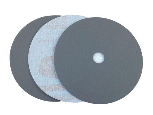 """25 Pack, 800 Grit 7/"""" Black Waterproof Hook and Loop Grip Sanding Discs"""