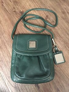 Tignanello-Genuine-Leather-Green-Crossbody-Bag