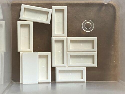 White Tile 1 x 2 w Groove QTY 10 No 3069b LEGO Parts