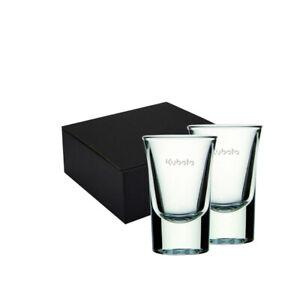 Kubota Branded Two Glass 60ml Port Glasses with Black Gift Box