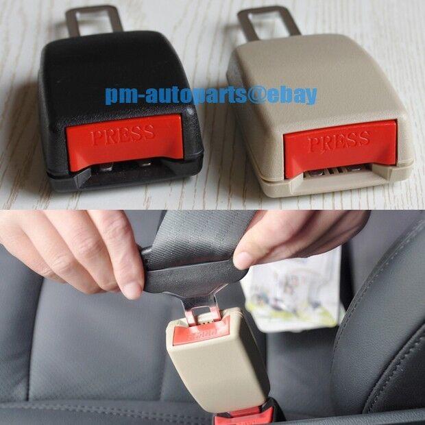 PM 3mm Steel Seat Belt Strap Buckle Safety Extender Warning Alarm Stopper Insert