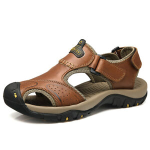 Men-039-s-Outdoor-Sandals-Breathable-Summer-Beach-Shoes-Closed-Toe-Walking-Fisherman