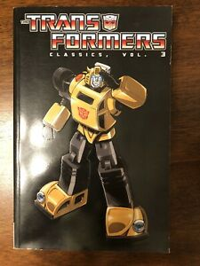 Transformers-Classics-Volume-3-TPB-Thick-Graphic-Novel-Bumblebee-Rare