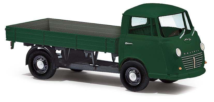 Busch 94201, 3k  Goliath Express 1100 Flatbed, Green, Model 1 87 (H0)