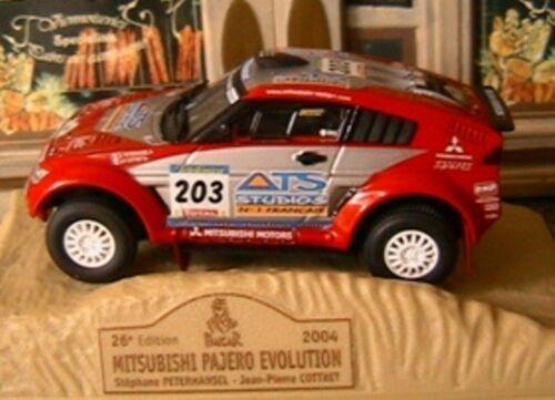MITSUBISHI PAJERO EVOLUTION 2004 RALLYE PARIS DAKAR NEW 1//43 NOREV M6 COLLECTION