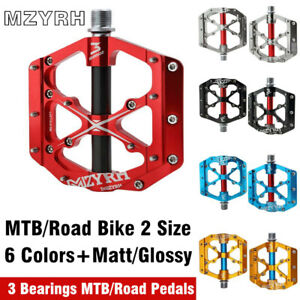 9//16 in Bicycle Pedal 3 Bearings Flat Pedals MTB BMX Road Bike Racing Pedals