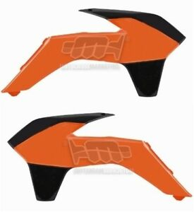 Polisport Radiator Scoops KTM Orange for KTM 450 EXC 4-Stroke 2003-2004