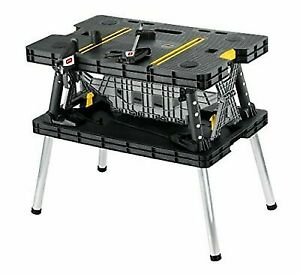 Pleasing Keter Folding Compact Workbench 1000Lb Weight Capacity Lamtechconsult Wood Chair Design Ideas Lamtechconsultcom