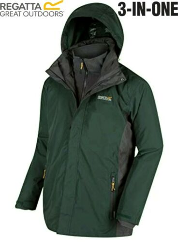 Regatta Mens Telmar 3in1 Waterproof Outdoor Hiking Walking Classic Jacket Coat