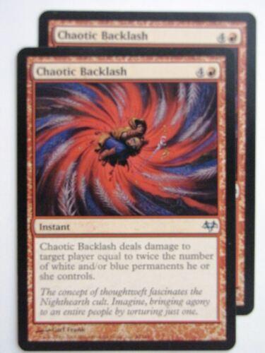 MTG Magic Cards CHAOTIC BACKLASH x2 # 23D80