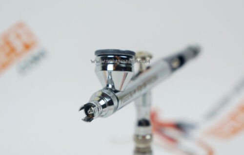 1//8 adapter included Paasche airbrush Raptor with 0.25mm nozzle set plus BONUS