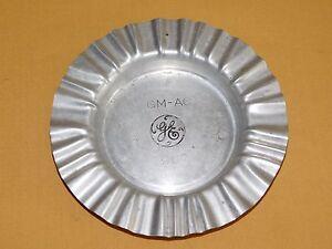 "VINTAGE 6 3/4"" ACROSS GE GENERAL ELECTRIC LGM-AC 1967 METAL CIGARETTE ASHTRAY"