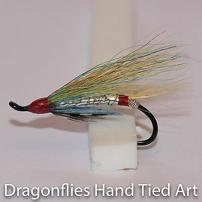 Salmon Fly,Blue Doctor Pick a size Fly Fishing Fly Single Hook. 3-pack