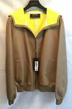 Gucci Leather Basic Jacket w/Hood Light Brown/Tan 343775 2505 NWT $5900 Retail