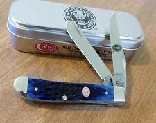 CASE XX New Navy Blue Jigged Bone Handle Eagle Scout Mini Trapper Knife/Knives