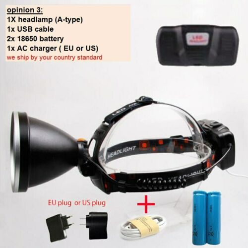 P50 LED Headlamp Headlight work Frontal Head lamp Torch light usb Rechargeable