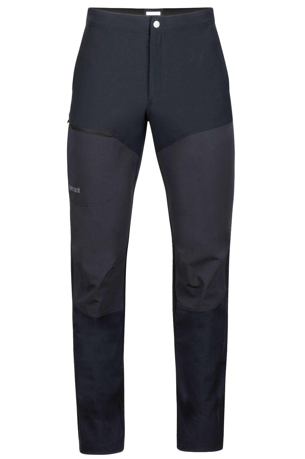 Marmot Scrambler Pantalones, Pantalones Softshell para hombre, negro