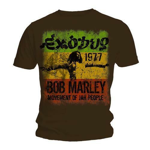 Marron Bob Marley /'Exodus Movement Of Jah People/' T-Shirt