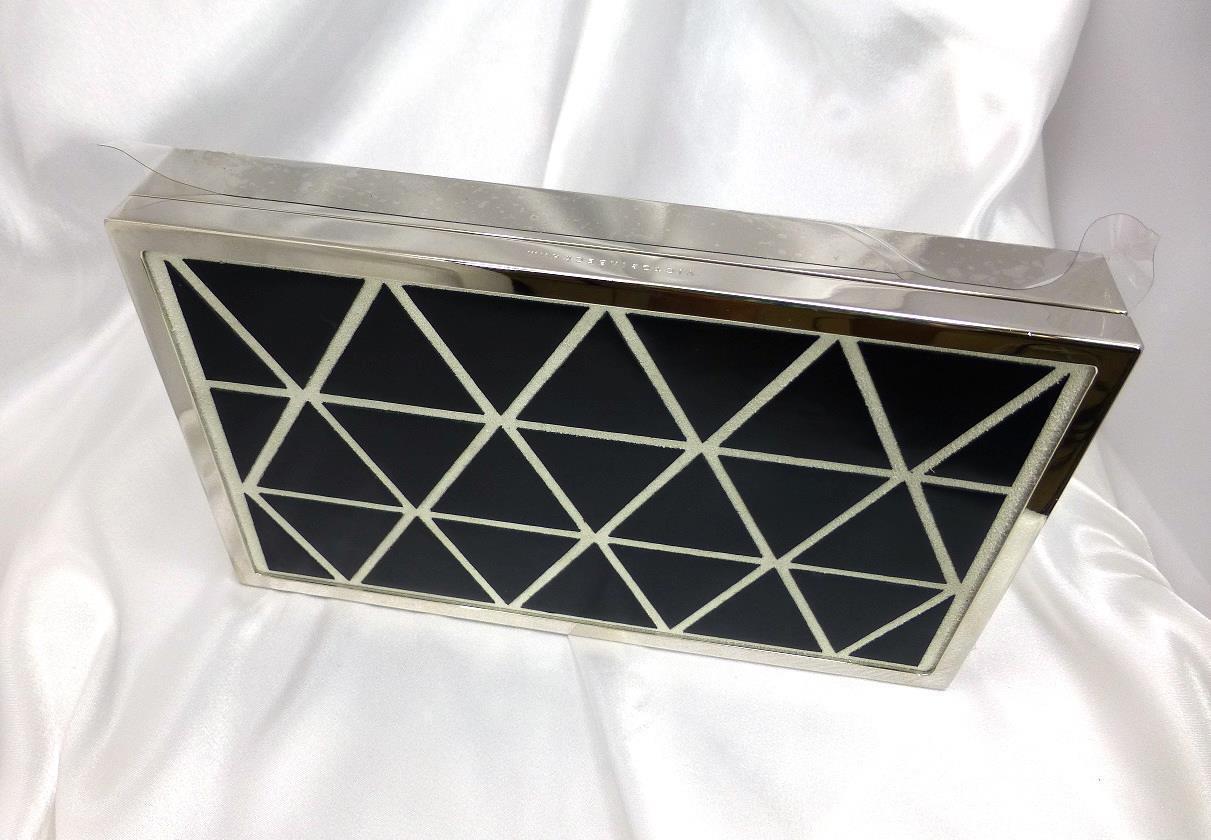 NWT Victoria Beckham Clutch Geometric Patent Leather Handbag-Purse MSRP