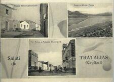 Tratalias Cagliari Vedutine Animata - Cartolina viaggiata 1950