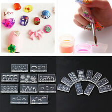 10pcs/set DIY Nail Art Tips 3D UV GEL Acrylic Powder Silicone Mould Nail Tools