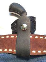 North American Arms Pug 22mag Derringer Croc Black Leather Holster