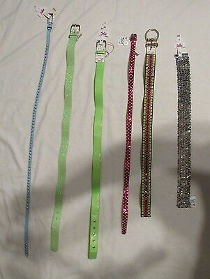 NEW JUSTICE GIRLS BELTS SIZE XS SMALL MEDIUM LARGE XL IN 6 STYLES PICK FAVORITE