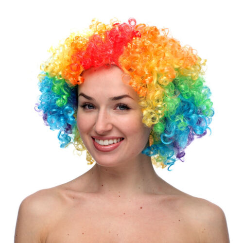 Afro Wig Rainbow Photo Booth Props Fancy Dress Party