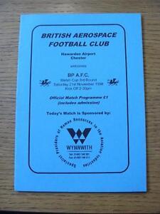 21111998 British Aerospace v BP Llandarcy Welsh Cup - Birmingham, United Kingdom - 21111998 British Aerospace v BP Llandarcy Welsh Cup - Birmingham, United Kingdom