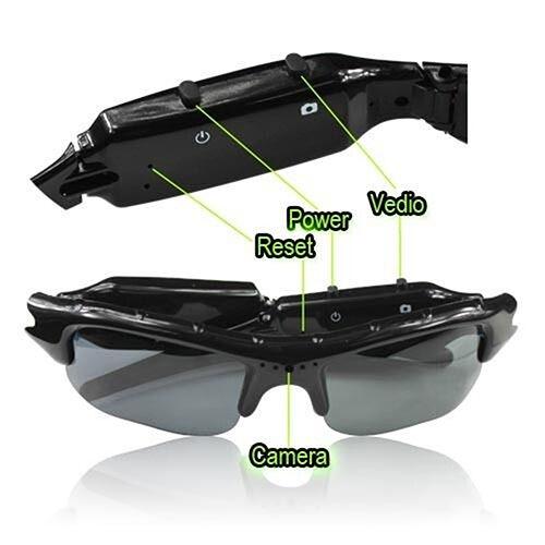 JT/_ HD Glasses Spy Hidden Camera Sunglasses Eyewear DVR Video Recorder Cam Blu