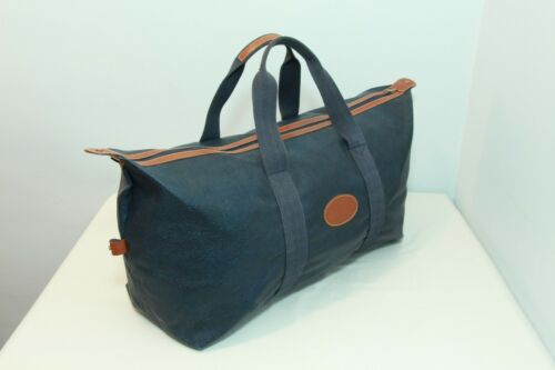 Vintage Travel Mulberry Navy Leather Zip Large Bag