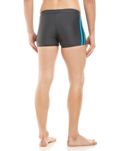 SPEEDO Fitness Shoreline Square Leg Men/'s Swim Briefs Shorts M Lava Gray **NWT**