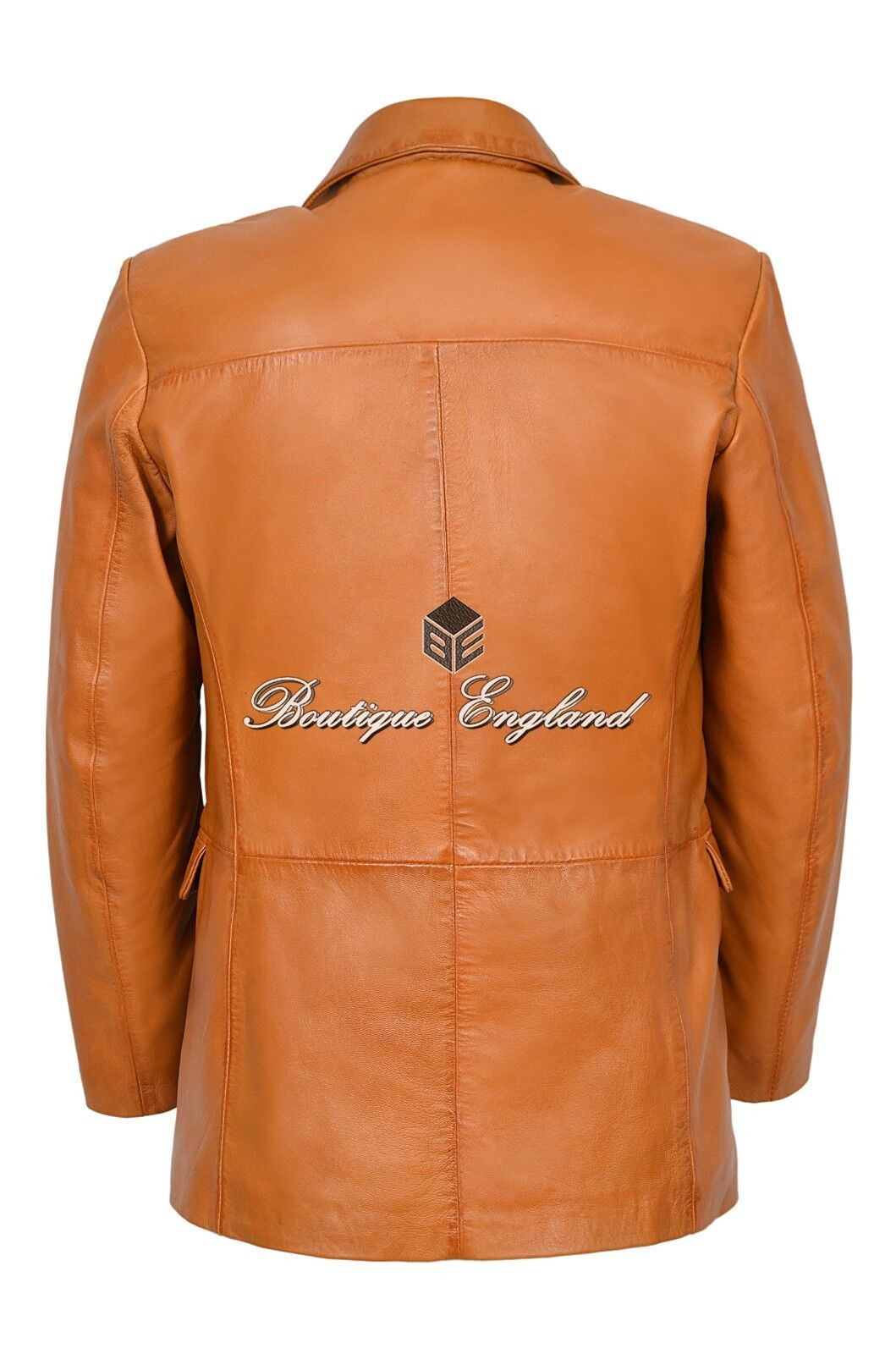 Mens Leather Leather Leather BLAZER TAN Classic ITALIAN TailGoldt Soft REAL LEATHER 865 | Räumungsverkauf