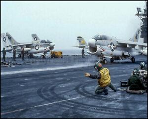 USN-A-7-Corsair-VA-56-USS-Midway-CV-41-1979-8x10-Aircraft-Photos