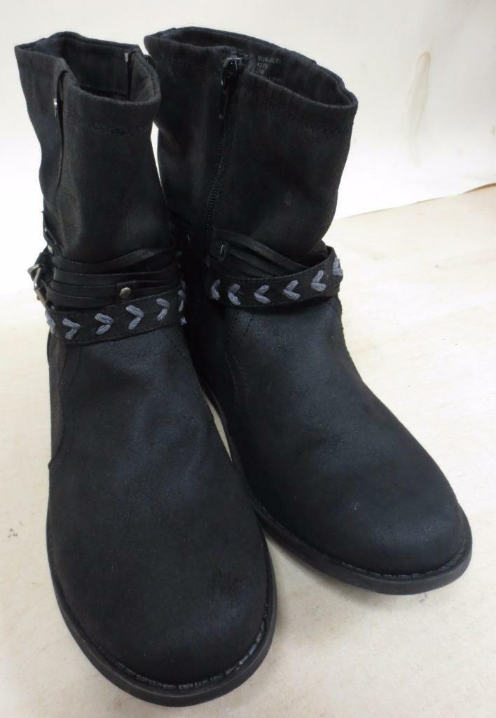 Woman's Sugar Black Fabric Ankle Boots- Size 8