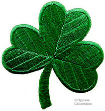 GREEN CLOVER PATCH - IRISH SHAMROCK Embroidered Iron-On IRELAND LUCKY applique